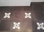 Flecken in Zementplatte, Fleckbildung Zementplatten,Flecken VIA