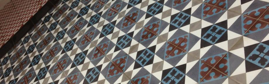 Zementmosaikplatteboden VIA Schweiz